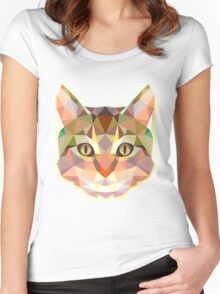 Animals Cat Gift Women's Fitted Scoop T-Shirt