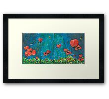 Poppies Diptych Framed Print