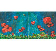 Poppies Diptych Photographic Print