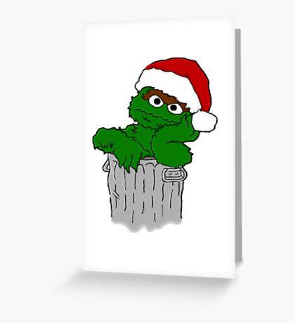 Christmas Oscar the Grouch Greeting Card