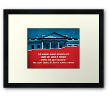 The Unemployment Rate Framed Print