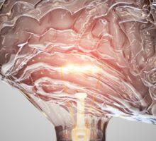Light Bulb Brain Sticker