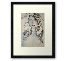 green red blue Framed Print
