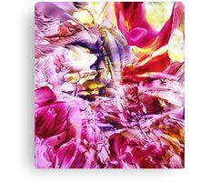 Floral Fantasy II (encaustic) Canvas Print