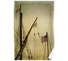 Sailing Flags Poster