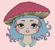Mushroom girl One Piece - Short Sleeve