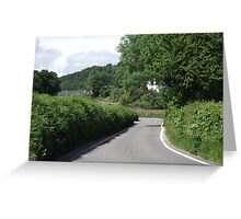 Devon Country Road Greeting Card