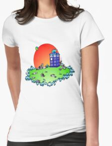 Cybermen vs The Tardis Womens Fitted T-Shirt