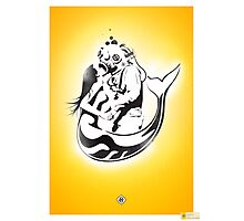 "Mermaid + Diver Stencil. ""Impossible Love"" Photographic Print"