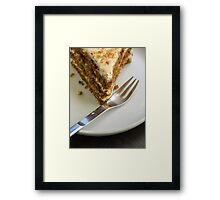 Life is short, skip to dessert Framed Print