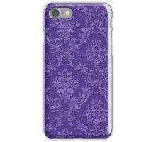 Vintage purple damask iphone case iPhone Case/Skin
