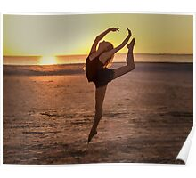 Ballet on the Beach Poster