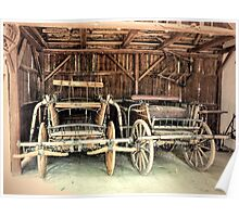 Old Wooden Carts Poster