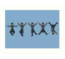 Dancing Sherlock Art Print