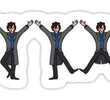 Dancing Sherlock Sticker