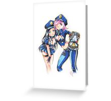 Officer Vi & Caitlyn Greeting Card