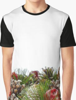 Christmas Decorative Wreath on White Background Graphic T-Shirt