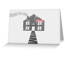 Welcome to your new home greeting card. Greeting Card
