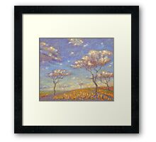 HOME OF COLORED CLOUDS. 2013 Framed Print