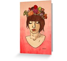 Is She Down to Earth or Hipster? Greeting Card