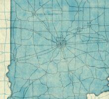Indiana Map Blue Vintage Sticker
