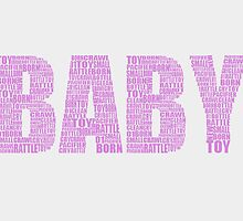 New born baby greeting card. by JokerCreations