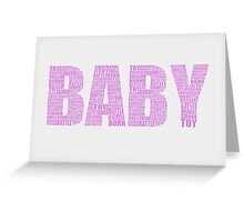 New born baby greeting card. Greeting Card