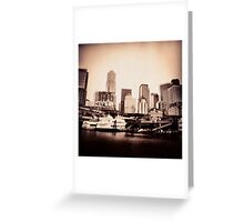Seattle from Her Ports Greeting Card