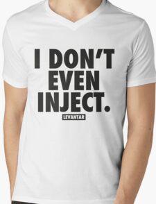I Don't Even Inject (Black) Mens V-Neck T-Shirt