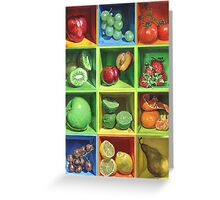 Boxed Still Life: Fruit Series #1 Greeting Card