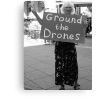 #1190  Ground The Drones Canvas Print