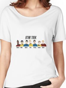 Minimalistic Star Trek Crew Women's Relaxed Fit T-Shirt