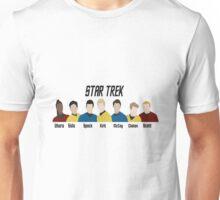Minimalistic Star Trek Crew Unisex T-Shirt