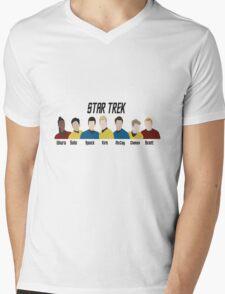 Minimalistic Star Trek Crew Mens V-Neck T-Shirt