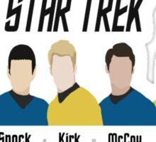 Minimalistic Star Trek Crew Sticker
