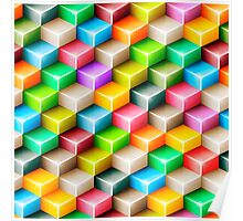 Colorful polygons Poster