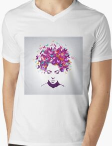 Women butterflies Mens V-Neck T-Shirt
