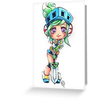 Chibi Arcade Riven Greeting Card