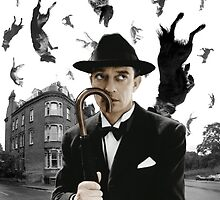 Buster Keaton Raining Cats and Dogs by mariposa5197
