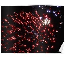 Fireworks Squiggle Poster