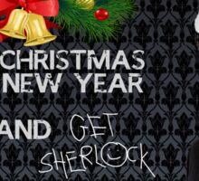 Sherlock Christmas Sticker