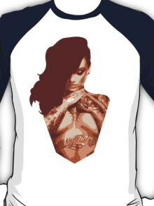 Cross Armed Tattoo Woman  T-Shirt