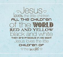 Jesus Loves The Little Children – 4:5 – Blue  by Janelle Wourms
