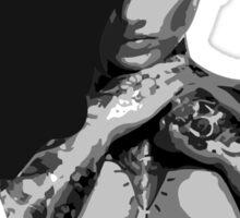 Cross Armed Tattoo Woman (B&W) Sticker