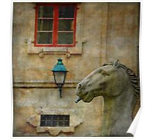 Horses made of stone Poster