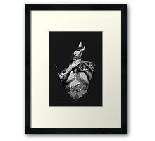 Cross Armed Tattoo Woman (B&W) Framed Print