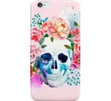Skull flower art iPhone Case/Skin