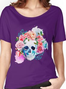 Skull flower art Women's Relaxed Fit T-Shirt