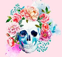 Skull flower art by MrNicekat