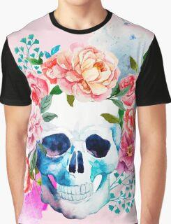 Skull flower art Graphic T-Shirt